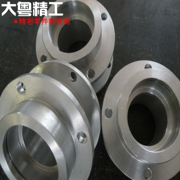 Machining large flange components custom mechanical sleeve