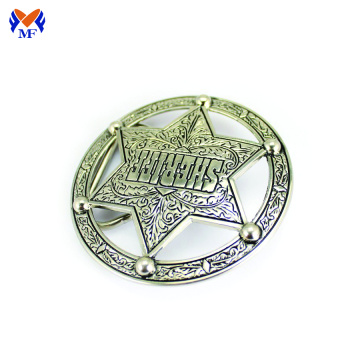 Custom round star belt buckle