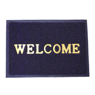Print welcome logo cushion door mat