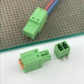 3.81mm pitch 2pin spring PCB plug-in terminal block