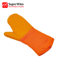 Barbecue Cooking Silicone Oven Mitts with Quilted Liner