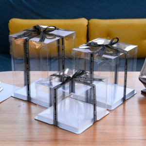 Plastic clear cake box packaging