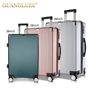 Durable zip materials carry on luggage set