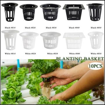 10pcs 3 cm Mesh Pot Net Cup Basket Hydroponic System Garden Plant Grow Vegetable Cloning Seed Germinate Nursery Pots