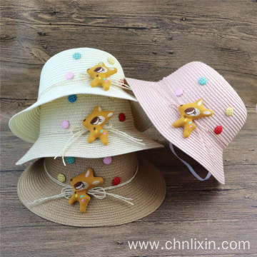 White newborn blank bucket hat