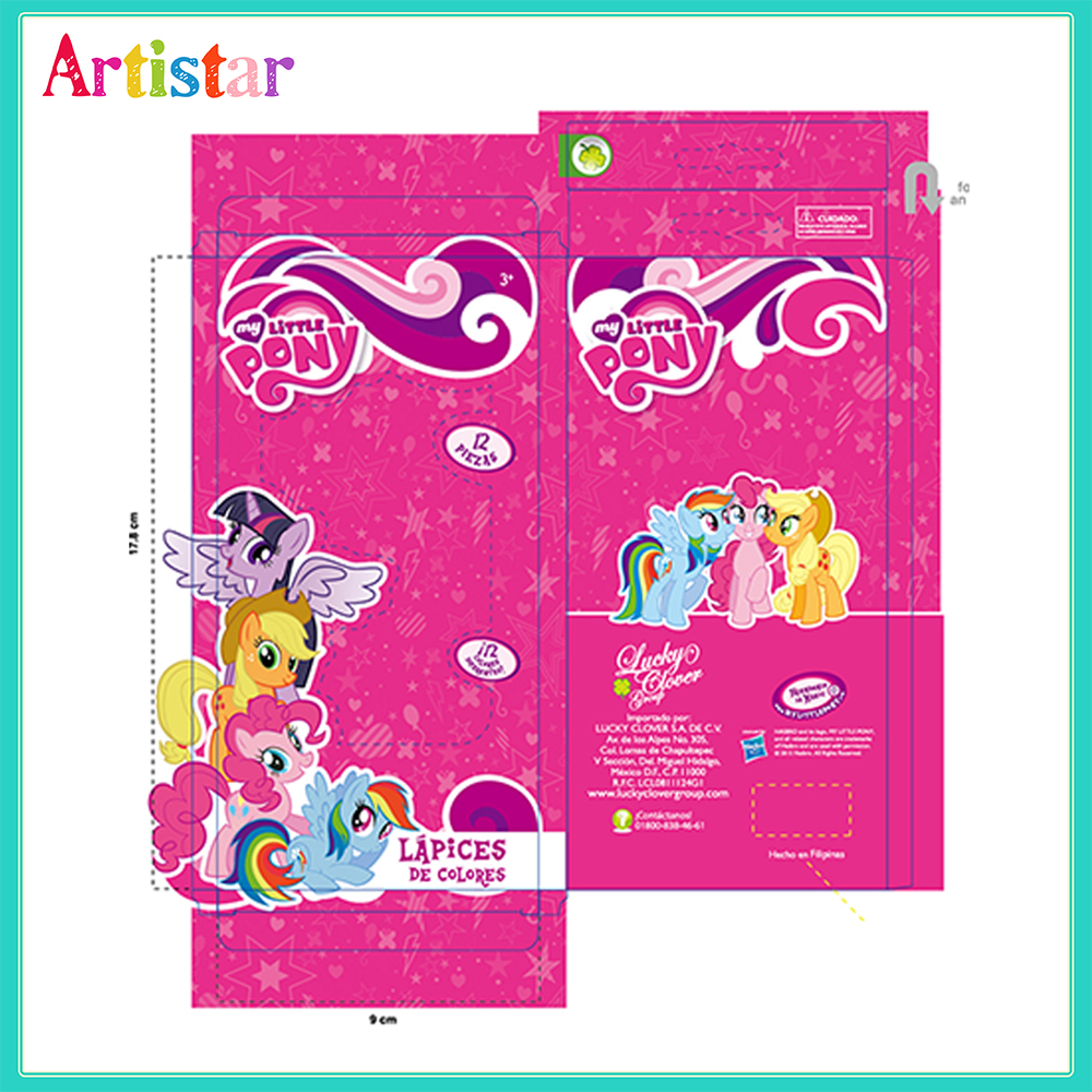 Pony Pencil Color Box