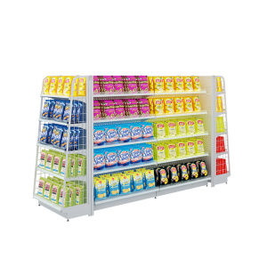 Double-Sided Supermarket Gondola Display Shelving