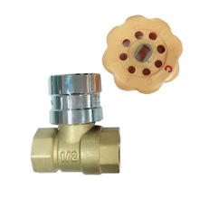 Brass lockable ball valve with magnetic handle