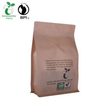 Custom Printed biodegradable Kraft Paper pouch For Coffee