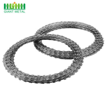 Iron Wire Material Concertina Cross Razor Barbed Wire