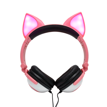 Blingbling Animal Cosplay Over Ear Wired Kopfhörer