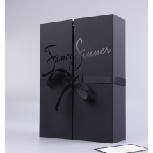 Black Custom Print Logo Paper Gift Box