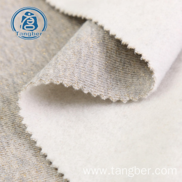 Knitted Melange One Side Brushed Fleece Fabric