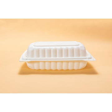 "9"" Disposable PP Plastic Lunch Box"