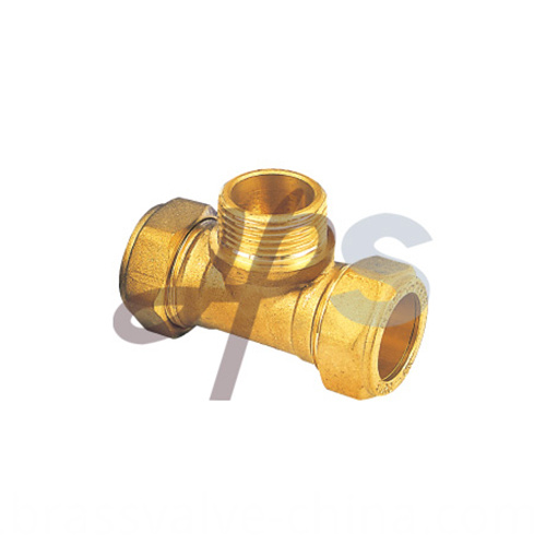 Brass Compression Male Tee Fitting