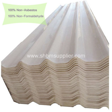 White Beige Glazed Corrugated MgO Roofing Panels