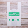 Custom compost bio-degradable T-shirt plastic shopping bags