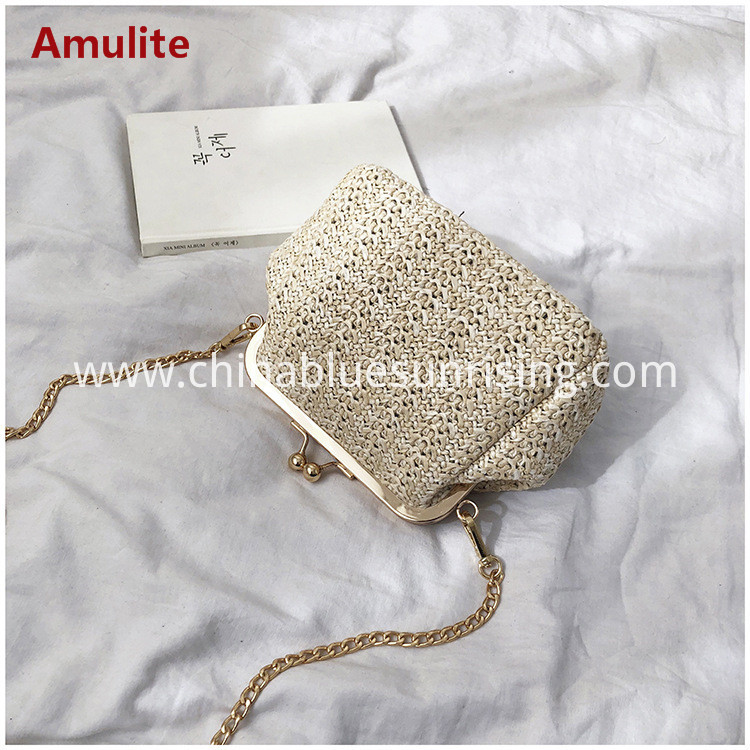 single shouder straw bag