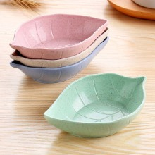 Creative Leavess Dish Baby Kid Bowl Wheat Straw Soy Sauce Dish Rice Bowl Plate Sub - plate Japanese Tableware Food Container