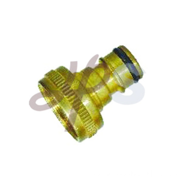 Brass garden hose tap adapter