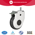 Threaded Stem Swivel TPR Medical Caster