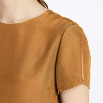 Women's Short Sleeve 19MM Soft Mulberry Silk T-Shirt