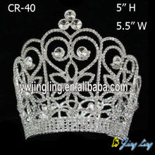 Rhinestone Large Size Full Round Crown