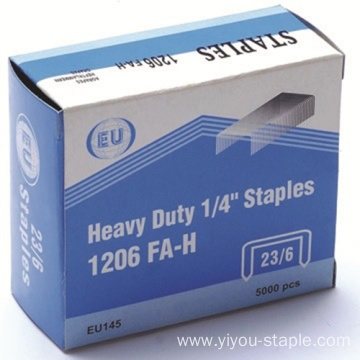 Metal Silver Stainless Steel 23/6 Heavy Duty Staples