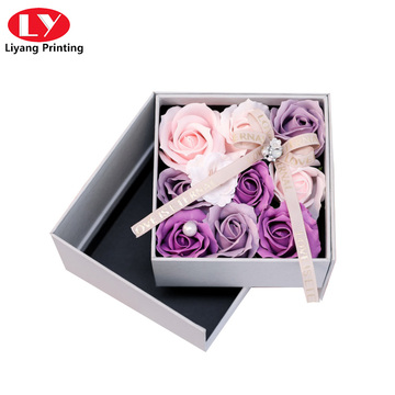 Exquisite gift double - deck rose flower box