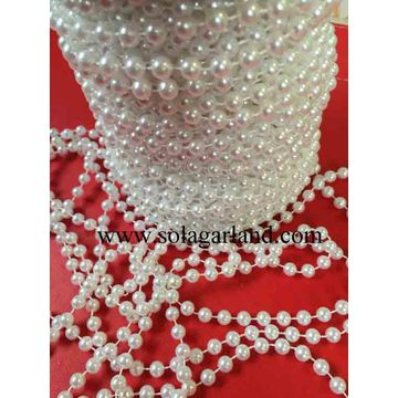 8/10/12/14MM Vintage Faux Shiny White Pearl Beads Garland