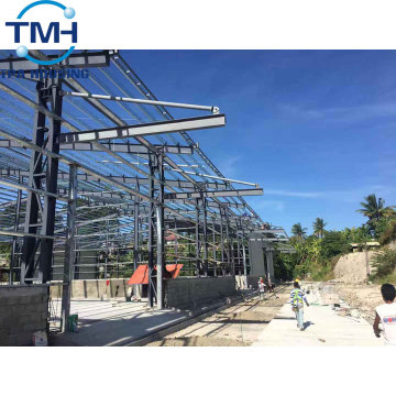 prefabricated steel structure warehouse shed building