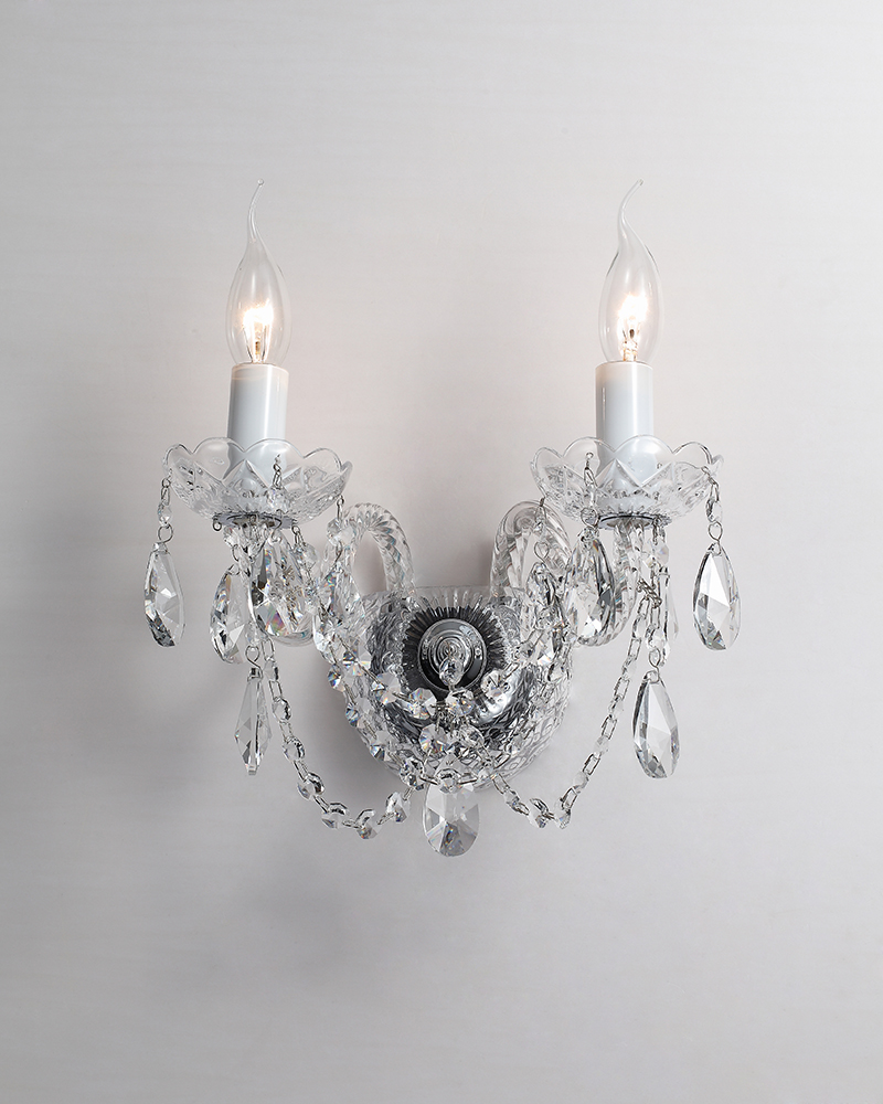 crystal h&m wall lamp