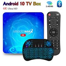 Vmade T2 Smart Android tv box 4G Rom 64G 128G tv receiver set top box Dual wifi 2.4G&5G Bluetooth Android 10 iptv Media player