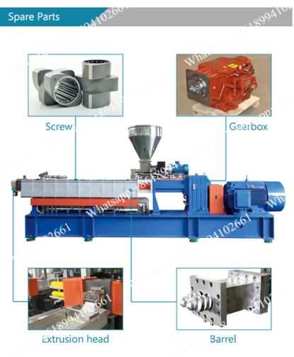 Small extrusion machine for plastic granules