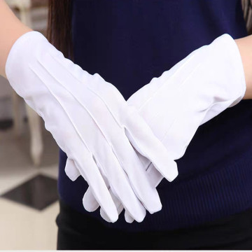 Womens Cotton Ceremony White Gloves
