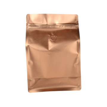 Gold Color Aluminum Plastic Coffee Kraft Bag
