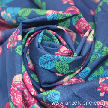 Wholesale Cotton Printed Woven Chambray Poplin Fabric