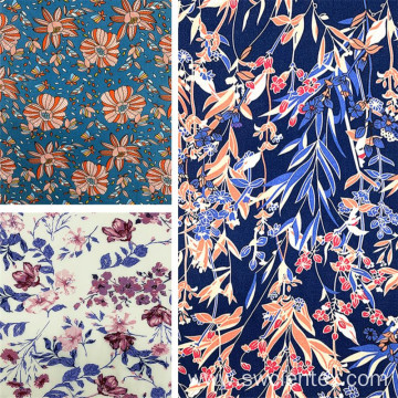Wholesale Floral Printing Rayon Material Summer Dress Fabric