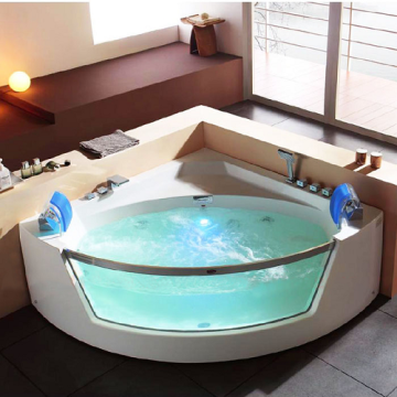 Massage Bathtub with Front Glass