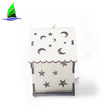 Led Light Cabins Chalet  Wooden House Decorations