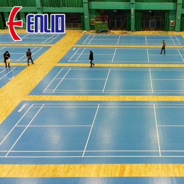 bule color BWF Approved badminton flooring