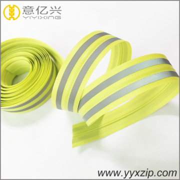 High visibility glow reflective tape waterproof zips