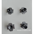 Plain Riveted Carbon Steel M6X10 T-nuts