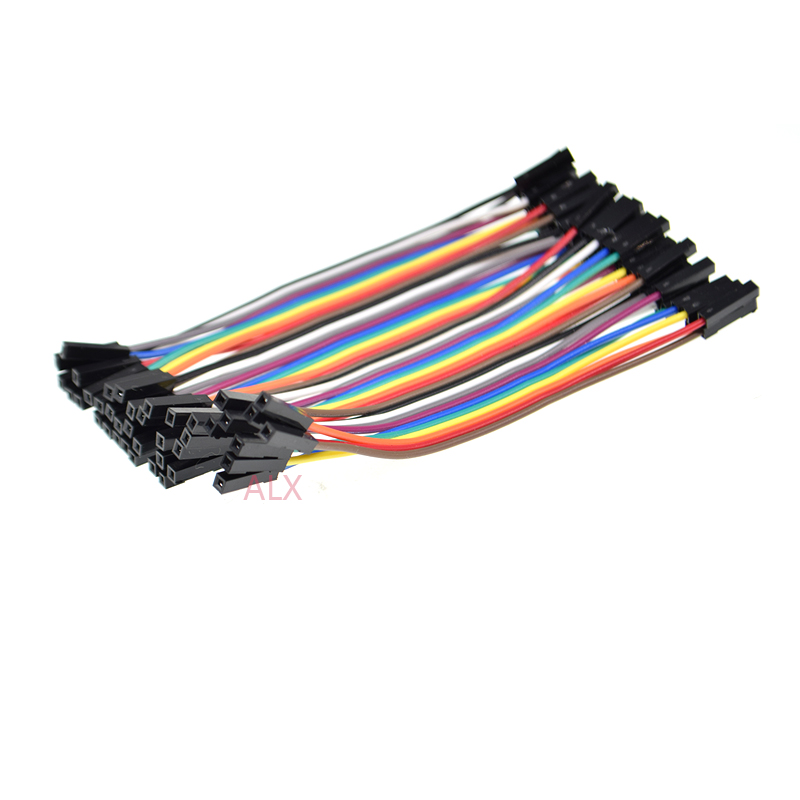 120pcs 10CM 40PIN DUPONT LINE MALE TO MALE + FEMALE TO FEMALE + MALE TO FEMALE 40p jumper wire CONNECTOR cable FOR PCB ARDUINO