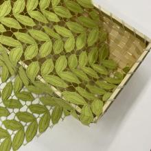 Green Leaves Milky Yarn Guipure Embroidery Fabric