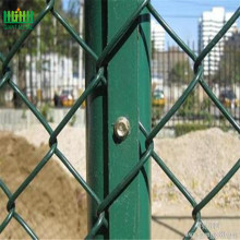 Galvanized chain link fence top barbed wire