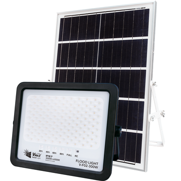 solar powered exterior flood light