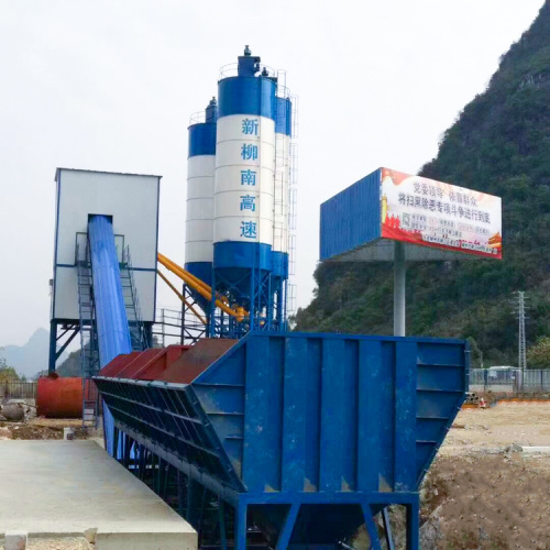 HZS90 construction use advanced concrete batching plant