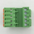 push in botton pluggable Din rail terminal block