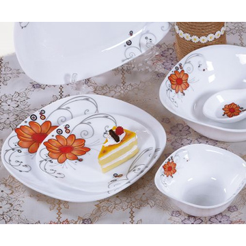 White Jade Glass Tableware Gift Sets